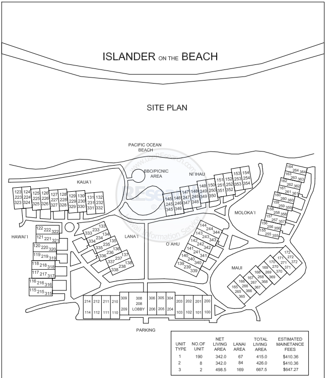 Kauai Condo Property Map, Islander on the Beach, on behalf of Kauai Realtor, Yelena Okhman